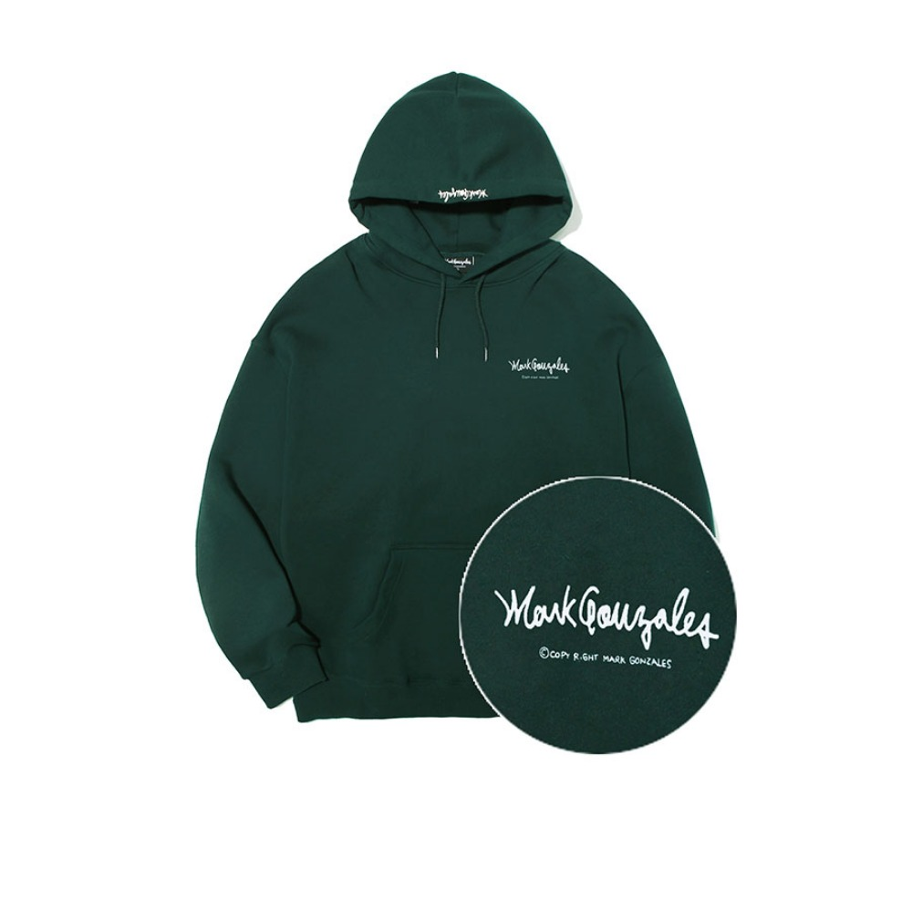 M/G SMALL SIGN LOGO HOODIE GREEN