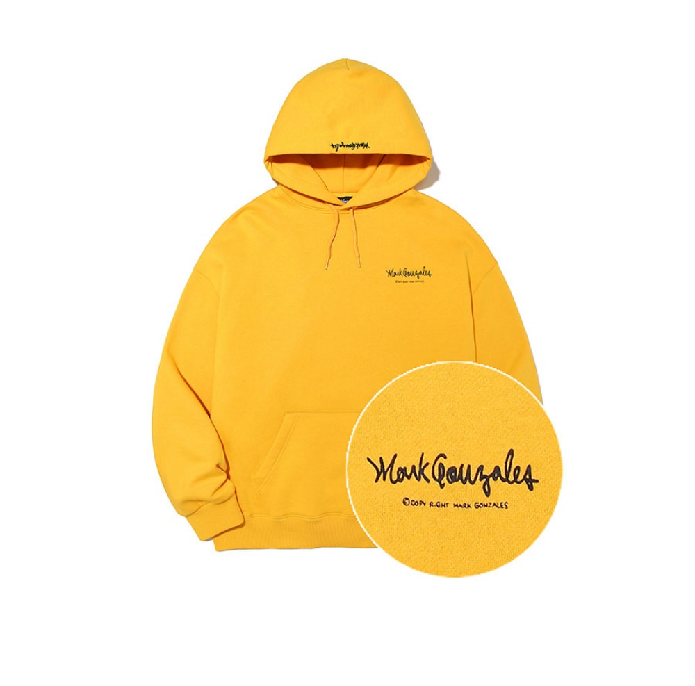 M/G SMALL SIGN LOGO HOODIE MUSTARD