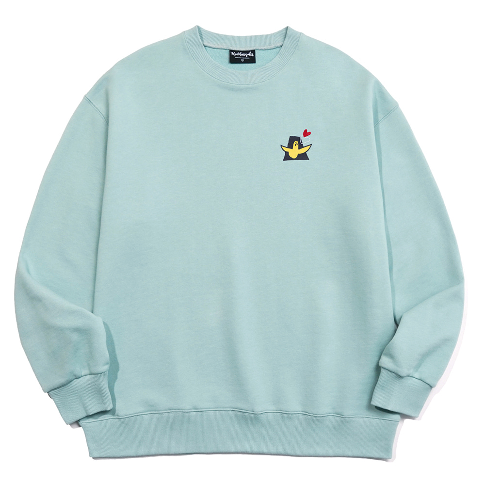 M/G LOVE ANGEL CREWNECK VINTAGE GREEN