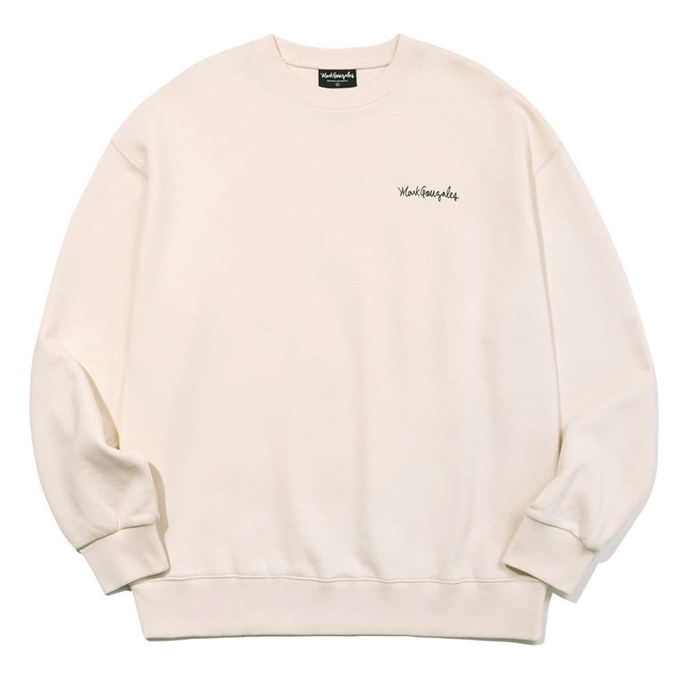 M/G SMALL SIGN LOGO CREWNECK IVORY