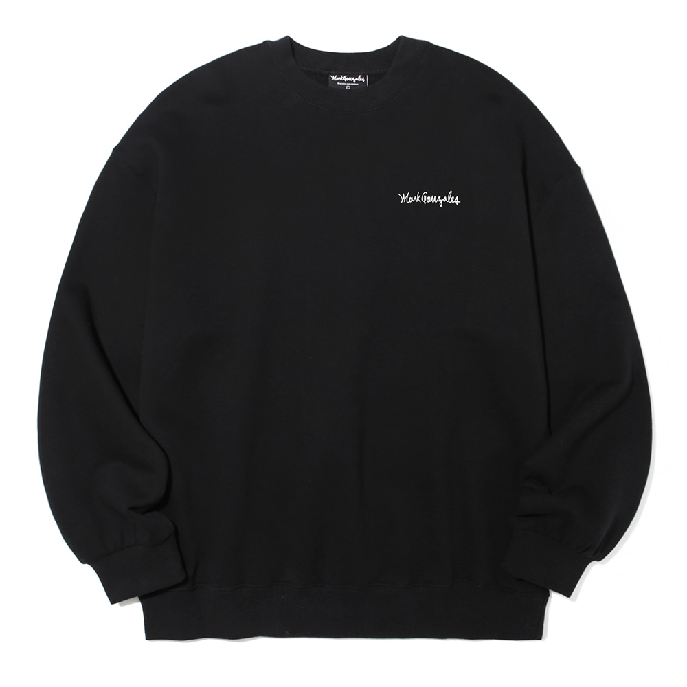 M/G SMALL SIGN LOGO CREWNECK BLACK