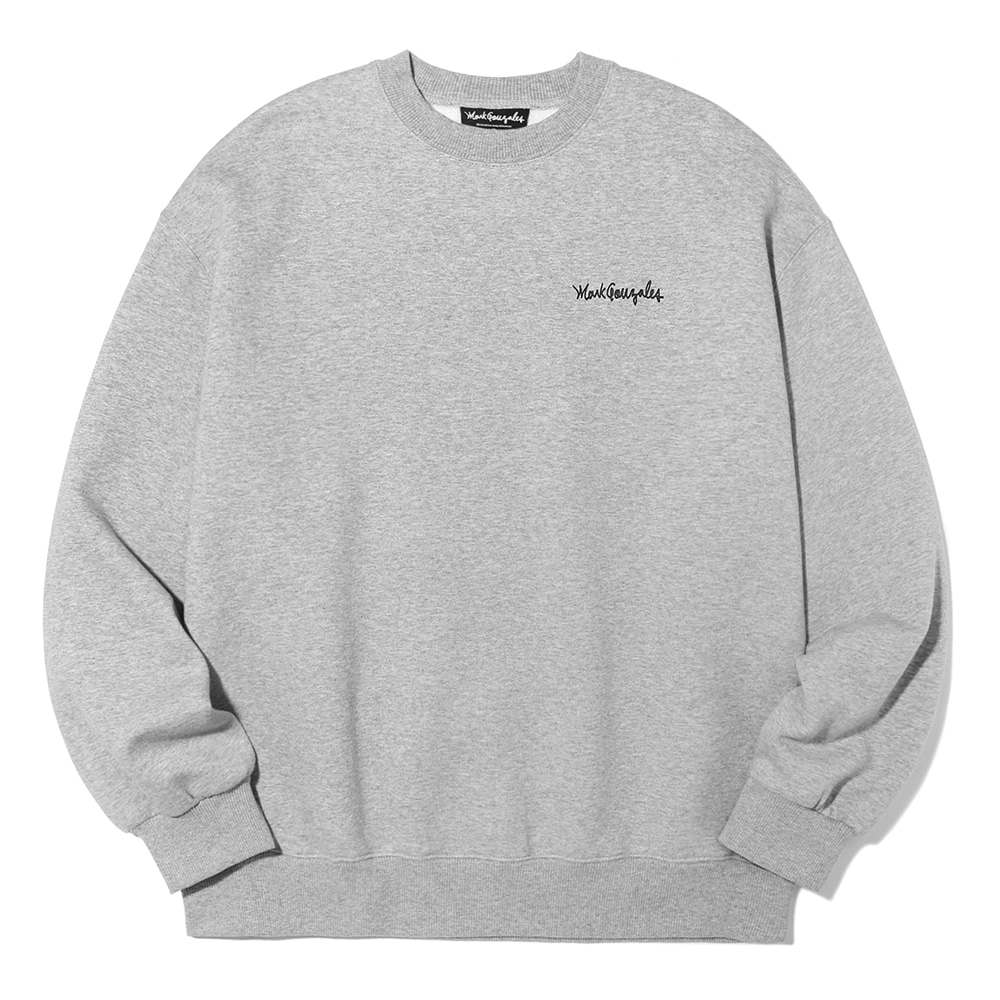 M/G SMALL SIGN LOGO CREWNECK GRAY