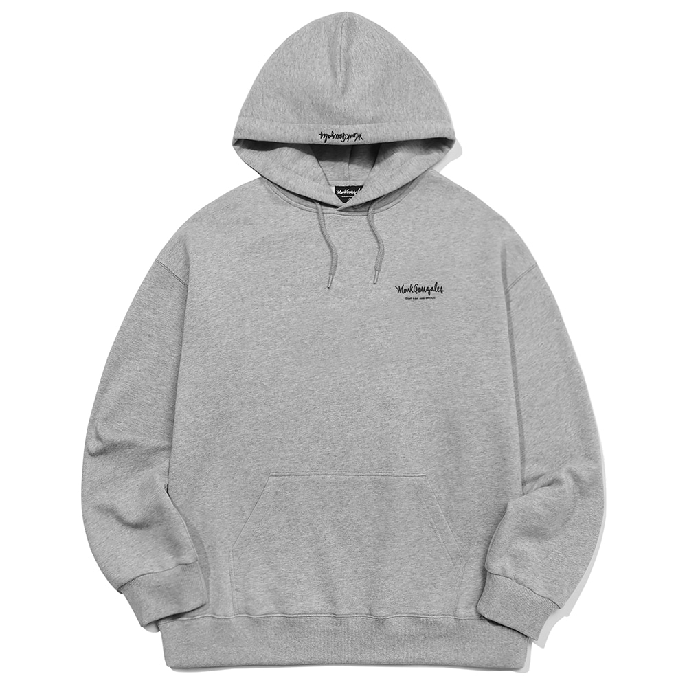 M/G SMALL SIGN LOGO HOODIE GRAY