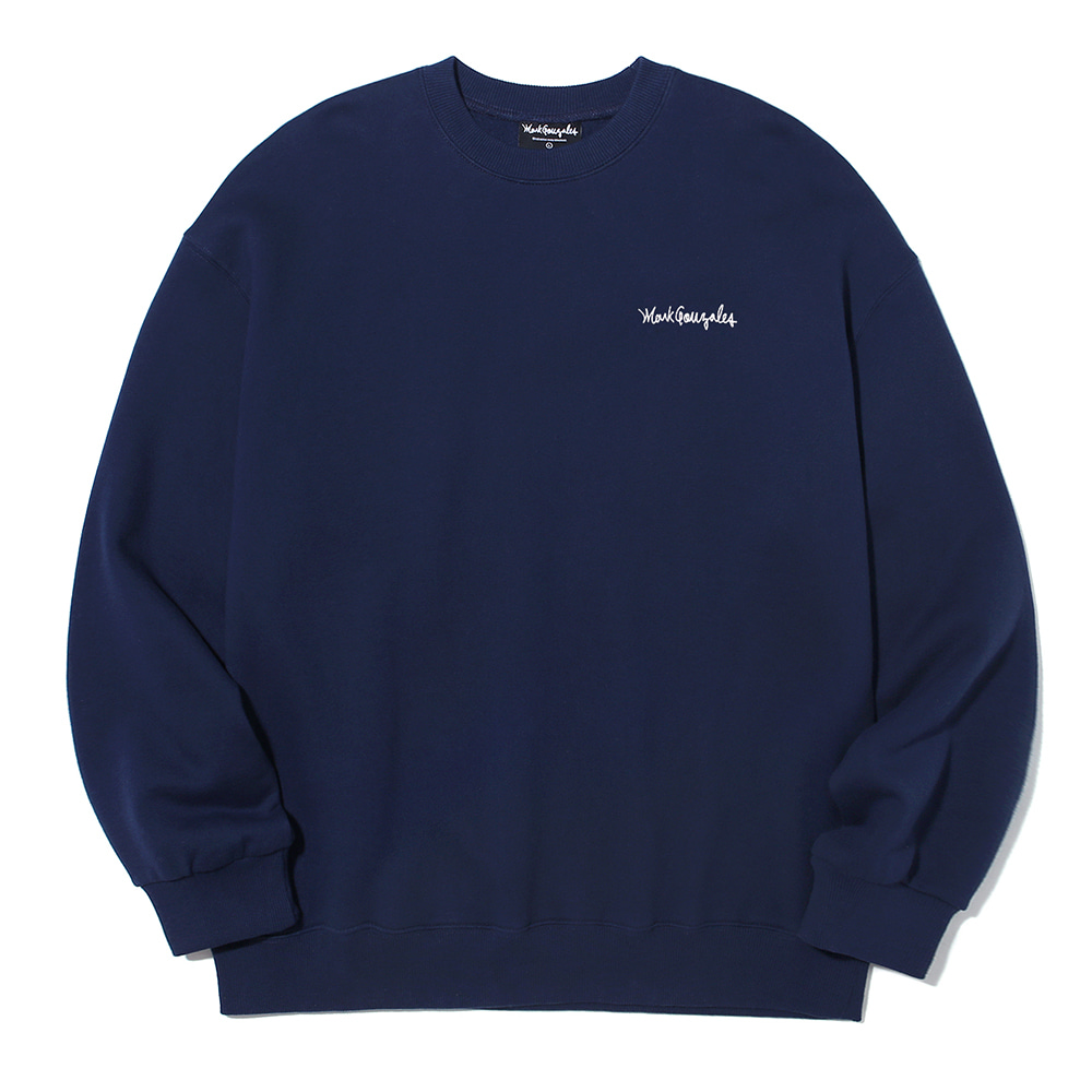 M/G SMALL SIGN LOGO CREWNECK NAVY