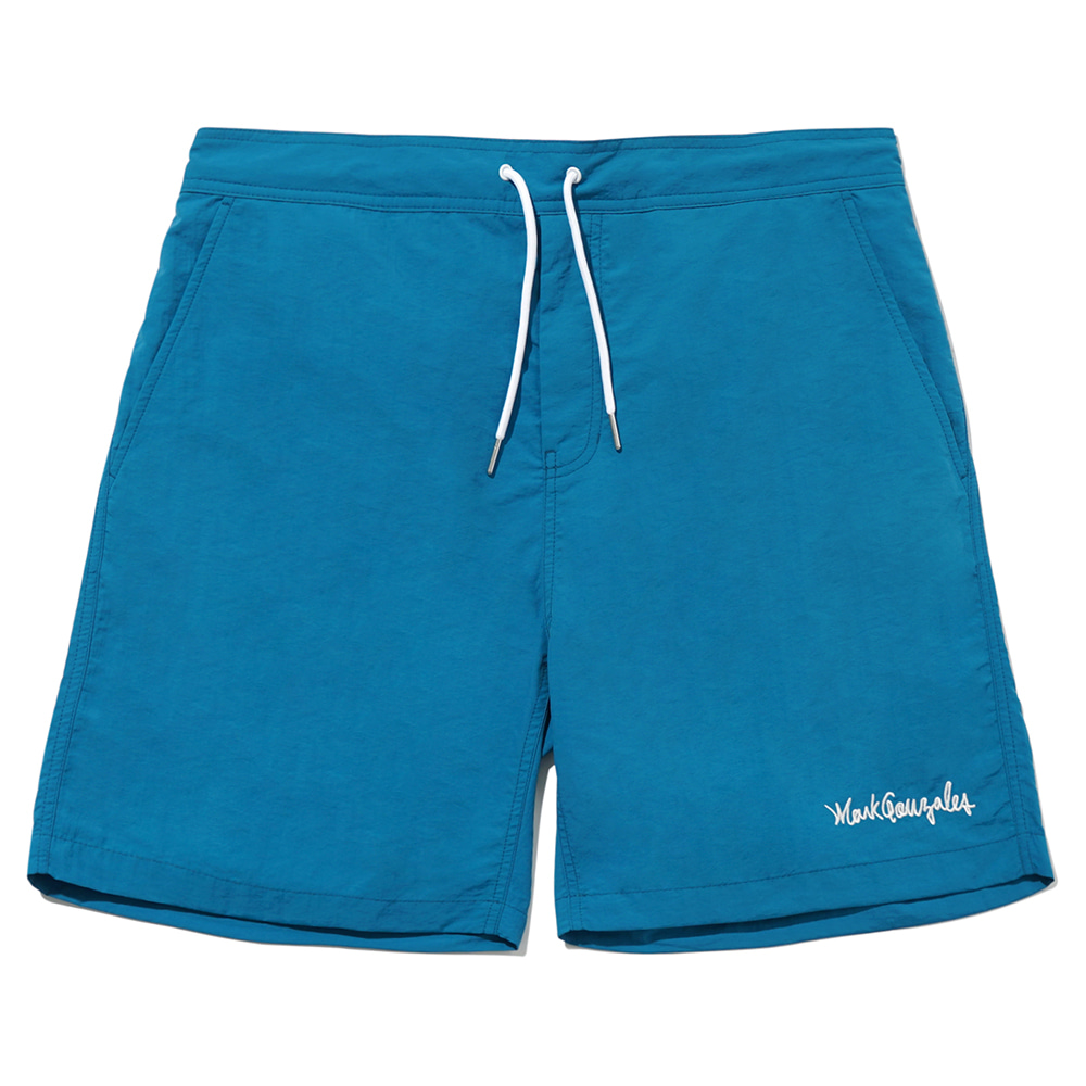M/G SIGN LOGO BEACH SHORTS FOREST GREEN