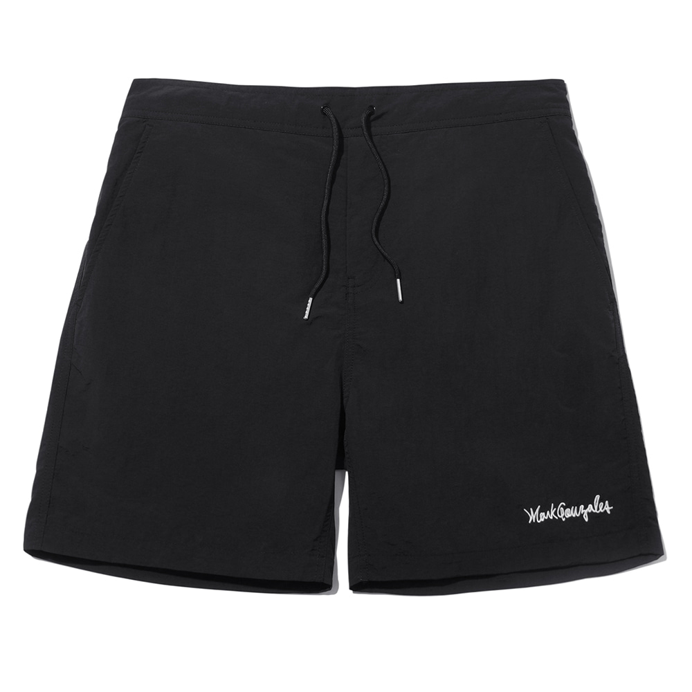 M/G SIGN LOGO BEACH SHORTS BLACK