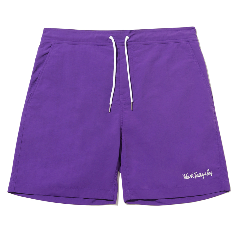 M/G SIGN LOGO BEACH SHORTS PURPLE