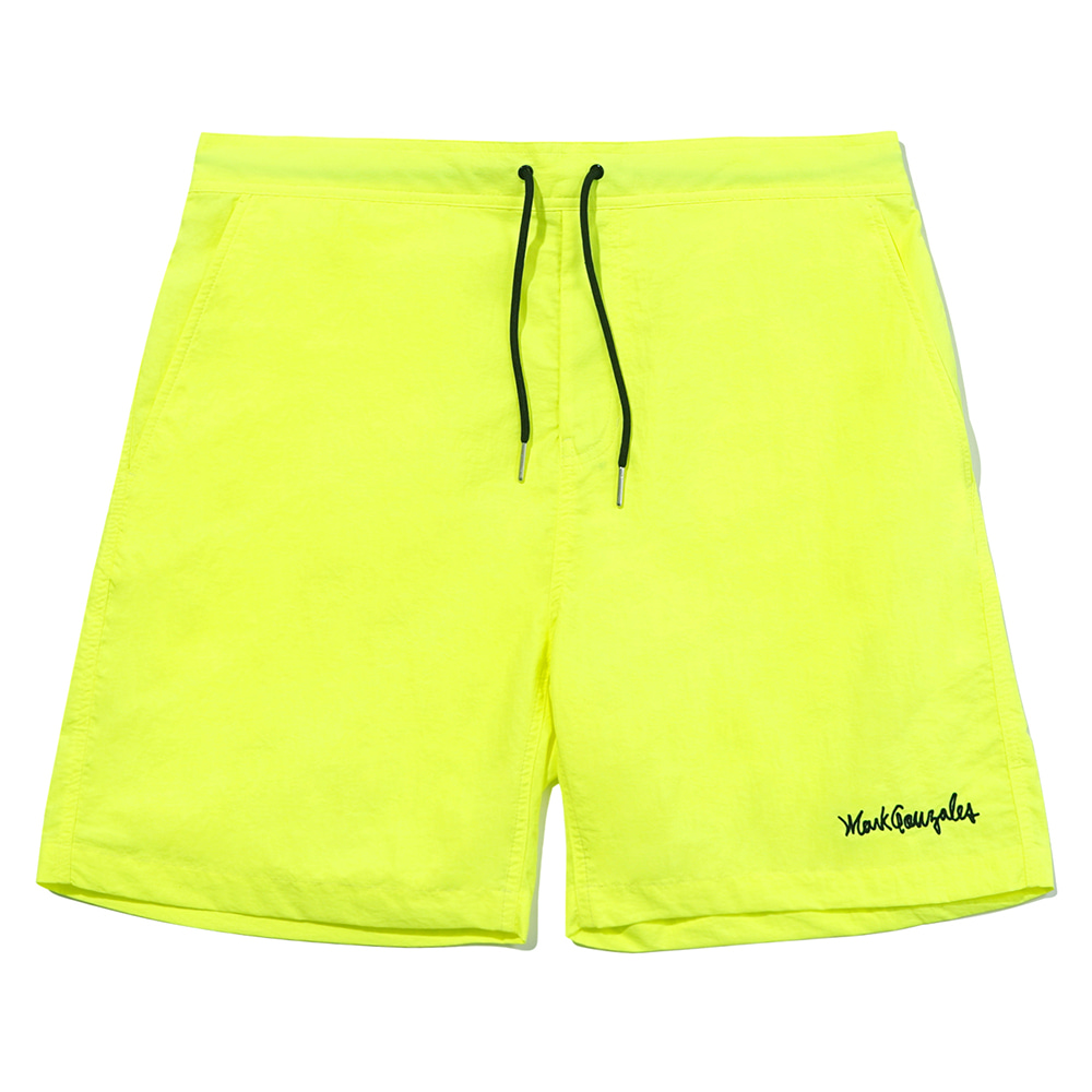 M/G SIGN LOGO BEACH SHORTS NEON