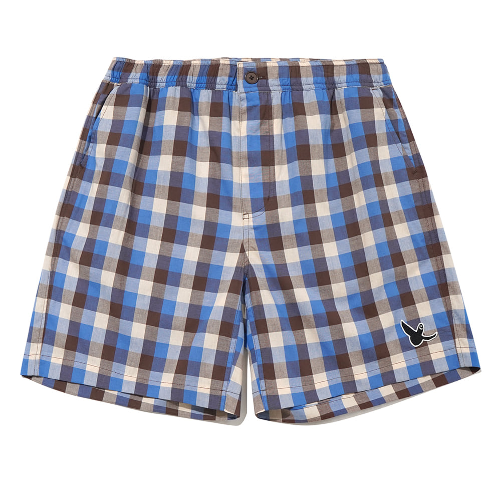 M/G ANGEL CHINO SHORTS BLUE CHECK