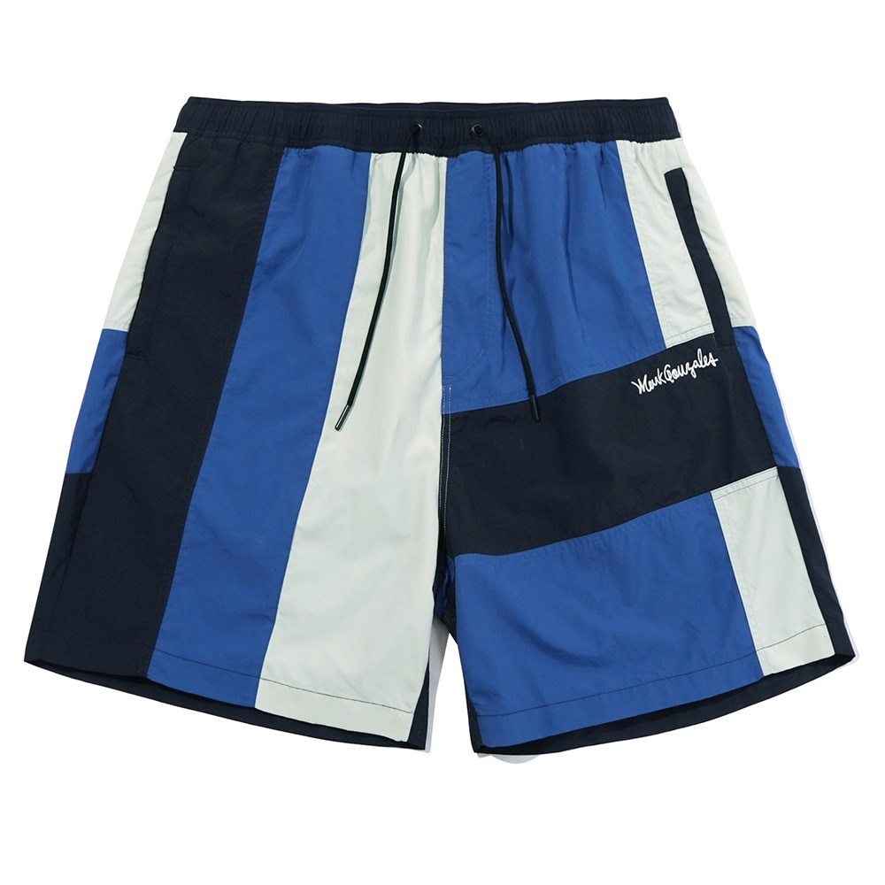 M/G BLOCK SHORTS NAVY