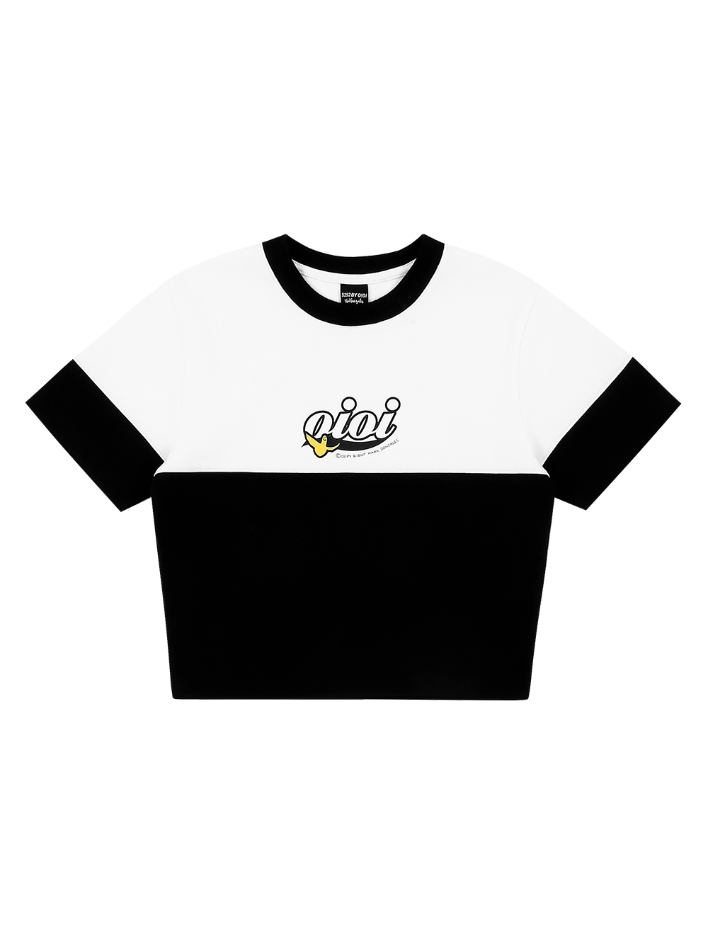 [5.B.OXMG] ANGEL CROP T-SHIRTS BLACK