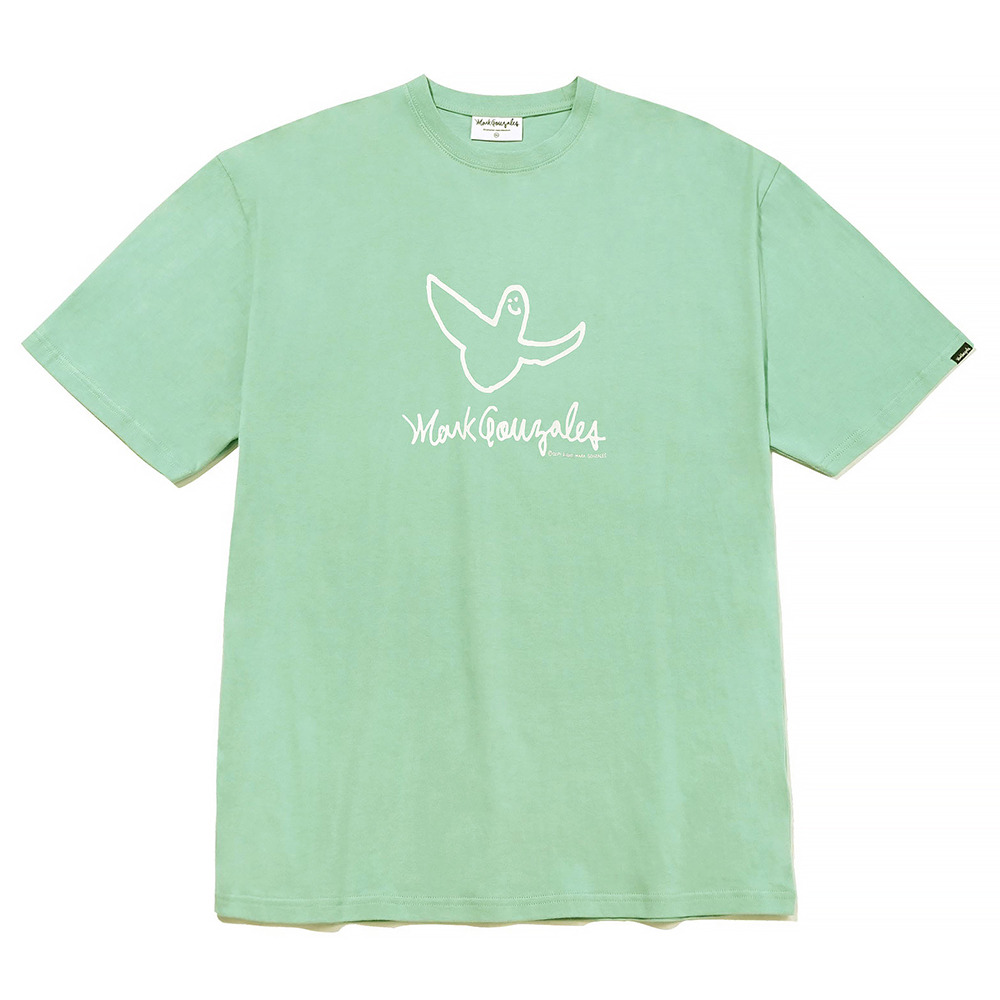 M/G ANGEL LOGO T-SHIRTS SAGE GREEN