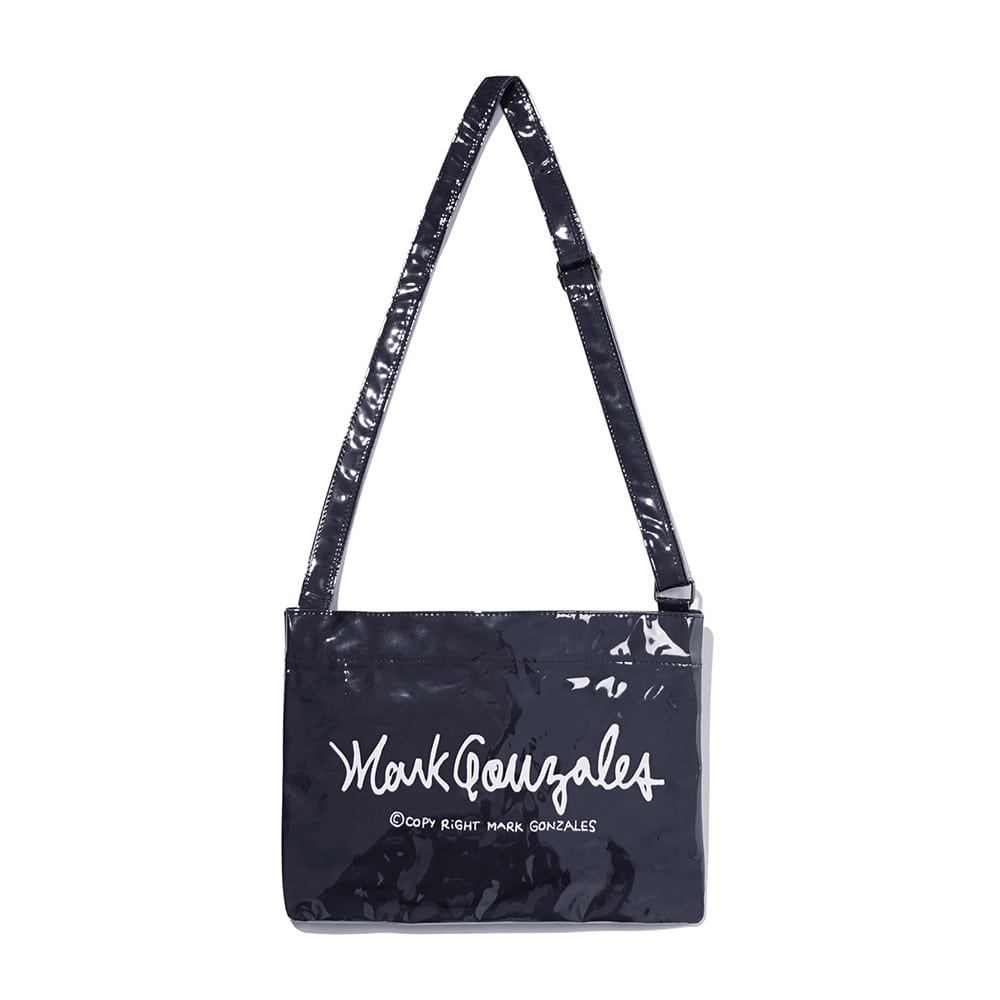 M/G SIGN LOGO CROSS  BAG (PVC) NAVY