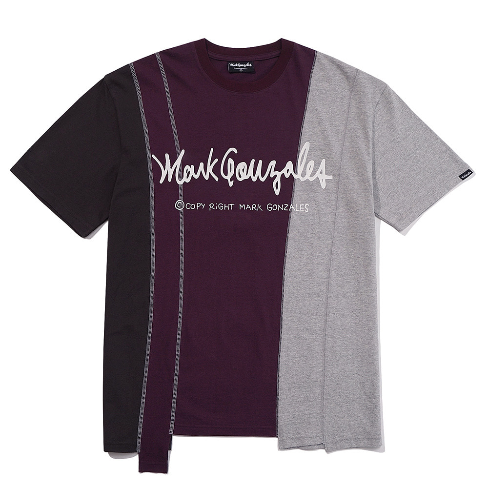 M/G RECYCLE T-SHIRTS BURGUNDY