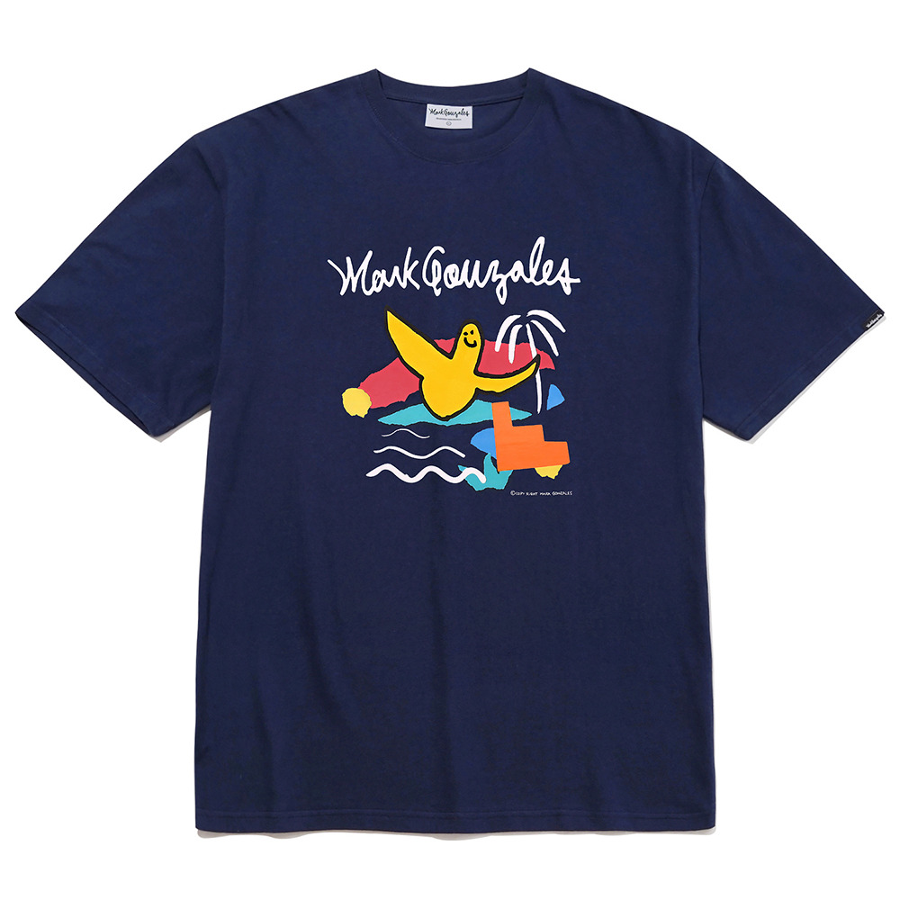M/G PASTEL ANGEL T-SHIRTS NAVY