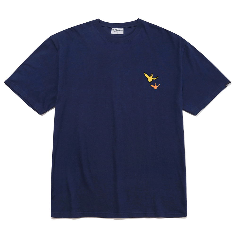 M/G DOUBLE ANGEL WAPPEN T-SHIRTS NAVY