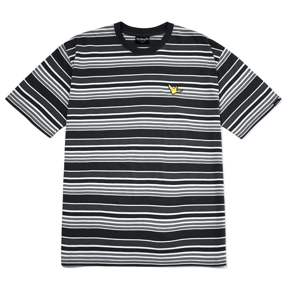 M/G MULTI STRIPE T-SHIRTS BLACK